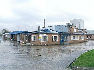 Llangadog railway station - Former CWS/MMB creamery at Llangadog, now a pet food factory