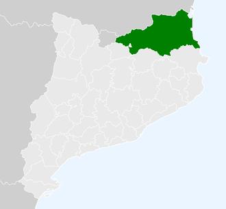 Northern Catalonia - Image: Localització de la Catalunya Nord respecte Catalunya