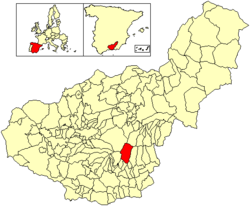 Location of Trevélez