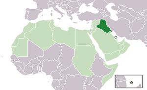 2011 Iraqi protests - Image: Location Iraq AW