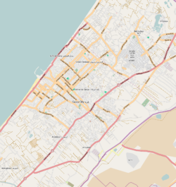 Rimal is located in Gaza Strip