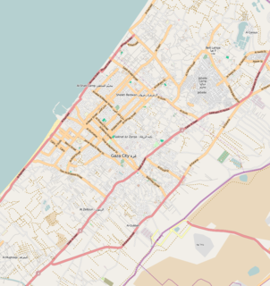 Rimal Neighborhood in Gaza, Gaza Governorate, Palestine