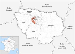 Lage des Hauts-de-Seine
