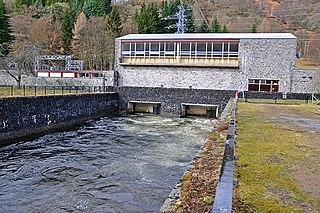 Small hydro hydroelectric project at the local level with a few MW production