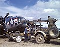 Lockheed PV-1 Ventura is loaded with bombs at an Aleutians airbase, circa in the summer of 1943 (80-G-K-14626).jpg