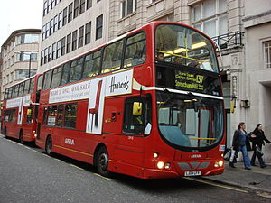 London Buses route 137 - Arriva London Wright Pulsar Gemini bodied DAF DB250LF at Oxford Circus in December 2007