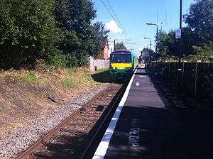 Watford North railway station - Image: London Midland train approaching Watford North