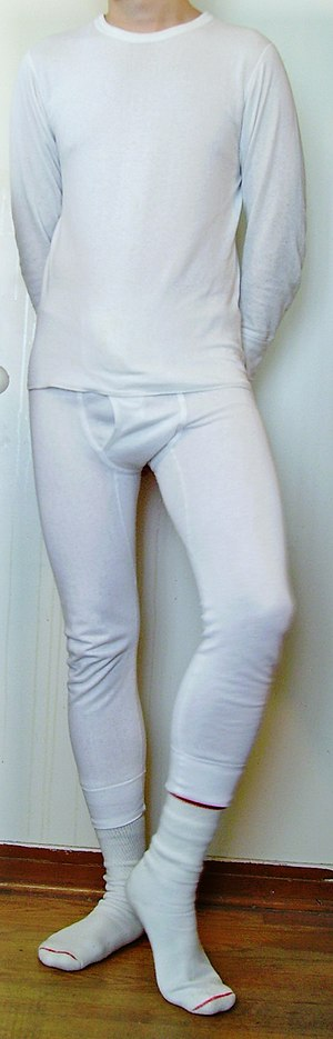 A person wearing long johns.