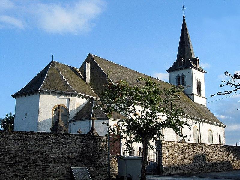 Longlier   (Belgium), St. Stephens' church (XVIIIth century).