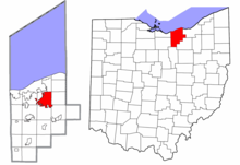 Lorain County Ohio Elyria highlighted.png