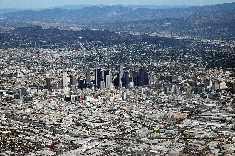 File:Los Angeles, CA from the air.jpg