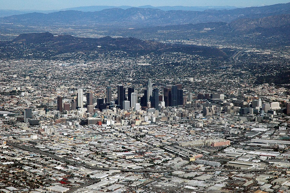 Los Angeles, CA from the air