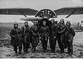 Lotnicy 2 plot na tle samolotu PZL-7 po powrocie z rajdu lotniczego do Rumunii NAC 1-W-1575.jpg