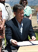 Louis Bacon donating Historic Conservation Easement in Sangre de Cristo Mountains, In June 2012.jpg