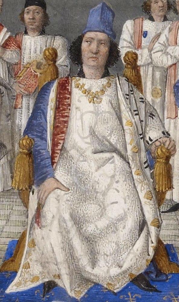 Louis XI préside le chapitre de Saint-Michel, 1470 (thumb)