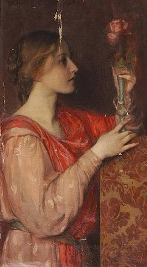Louise Cox (painter) - Louise Cox, The Rose, 1898