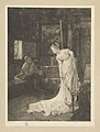 Louise Danse - L'atelier, E.-f. par Louise Danse, d'après Alfred Stevens. - Graphic work - Royal Library of Belgium - S.II 113335.jpg