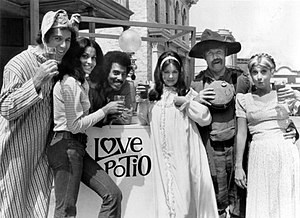 Phyllis Davis - Davis (center) with cast of Love, American Style, 1973