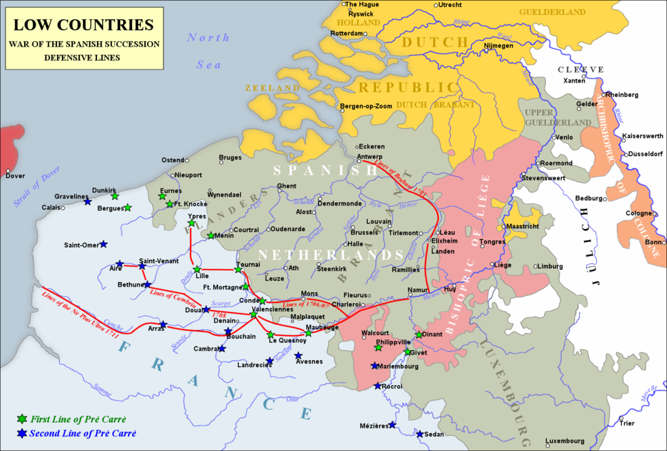 Low Countries 1700 and entrenched lines