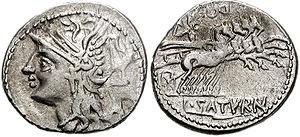 Lucius Appuleius Saturninus - Coin of Lucius Appuleius Saturninus.
