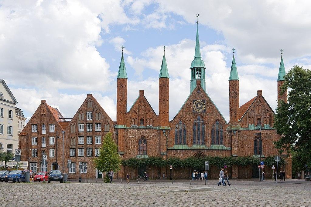 Heiligen-Geist-Hospital von Westen, UNESCO-Weltkulturerbe Altstadt Lübeck.20100905