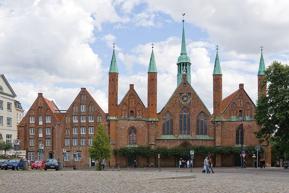 Luebeck-Heiligen-Geist-Hospital von Westen gesehen-20100905