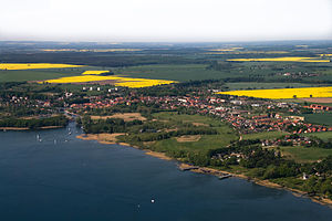 Plauer See (Mecklenburg-Vorpommern) - Aerial view of Plau at the lake