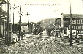 Luray, Virginia - Main Street, Luray, in 1910