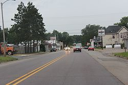 Lyndon Station Wisconsin Downtown Looking north US12 WIS16.jpg