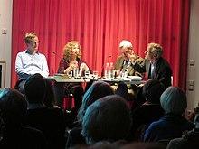 U201eDas Lyrische Quartettu201c, April 2015; V. L. N. R.:Florian Kessler, Kristina  Maidt Zinke, Harald Hartung, Heinrich Detering