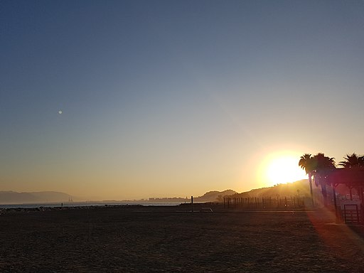 Málaga El Palo al atardecer