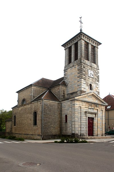 Église de Mérey-sous-Montrond (Doubs).