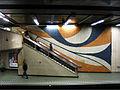 """Métro-Bruxelles- station """"diamant"""". Fresque en émaux de Briare.jpg"""