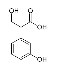 Chemical structure of meta-hydroxyphenylhydracrylic acid