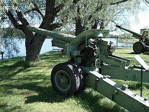 152 mm howitzer M1938 (M-10) - M-10 in Hämeenlinna artillery museum, Finland.