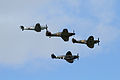 ME 109G, Hurricane and Spitfires 01 (4818250712).jpg