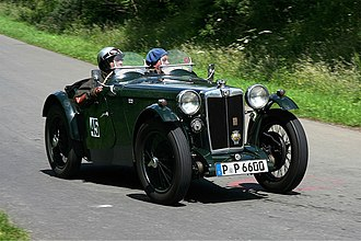 Automotive industry in the United Kingdom - A 1934 MG PA
