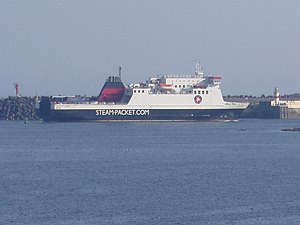 Isle of Man Steam Packet Company - Ben-my-Chree entering Douglas Harbour