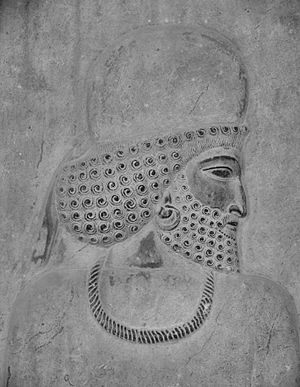 Media (region) - Rock relief of a Median man
