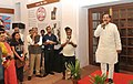 "Mahesh Sharma addressing at the inauguration of an exhibition ""Karenge ya Marenge - Chalo Dilli – 1942-2017"", on the occasion of 75 years of 'Quit India Movement and Azad Hind Fauj', in New Delhi.jpg"