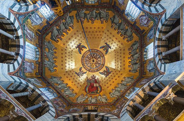 File main mosaic ceiling aachen cathedral - Plafond de la chapelle sixtine description ...