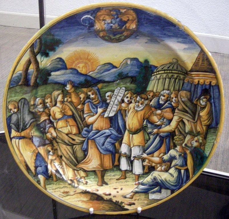 File maiolica di urbino alfonso patanazzi mos presenta le tavole della legge inizio xvii sec - Le tavole della legge ...