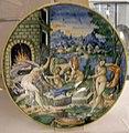 Maiolica di urbino, venere e vulcano, 1550 ca.jpg
