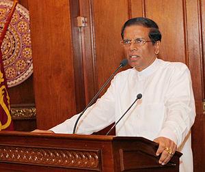 Nineteenth Amendment to the Constitution of Sri Lanka - Incumbent President Maithripala Sirisena