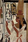 Painting of Nefertari in the tomb