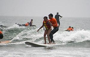 Autism friendly - Image: Malibu California surf adaptive recreation