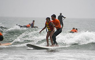 Autism friendly - Image: Malibu California surf adaptive recreation