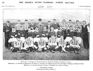 History of Manchester United F.C. (1878–1945) - The 1902-03 Manchester United team, whose players pose wearing both home and alternate jerseys.