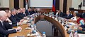 Manohar Parrikar and his Russian counterpart General Sergey Shoigu, at the 16th meeting of the India-Russia Intergovernmental Commission on Military-Technical Cooperation (IRIGC-MTC), in New Delhi.jpg