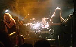 Manowar in هامبورغ during their 2007 tour.